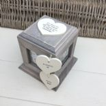 Shabby Chic In Memory Of A Son ANY NAME Rustic Wood Personalised Photo CUBE Box - 332868769439